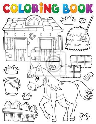 Libro para colorear caballo y objetos relacionados pinturas para la ...