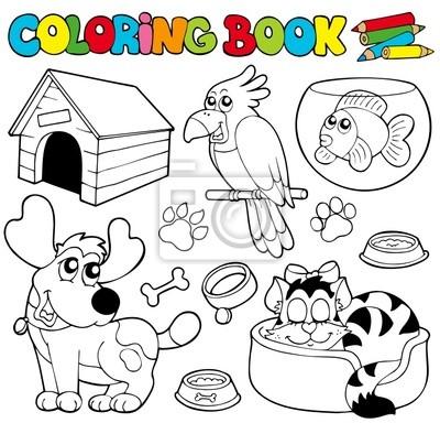 Libro para colorear con animales 1 pinturas para la pared • cuadros ...