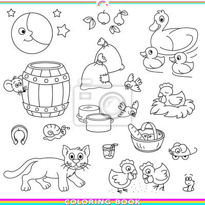 Libro para colorear con animales pinturas para la pared • cuadros ...