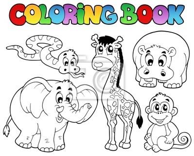 Libro para colorear con animales africanos pinturas para la pared ...