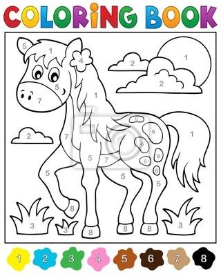 Libro para colorear con el caballo pinturas para la pared • cuadros ...