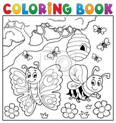 Libro Para Colorear Con Mariposa Y Abeja Pinturas Para La Pared