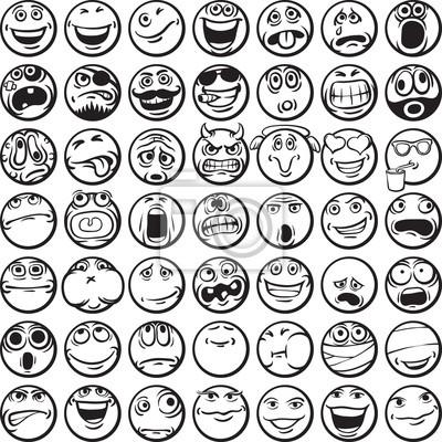Libro para colorear de caras felices pinturas para la pared ...