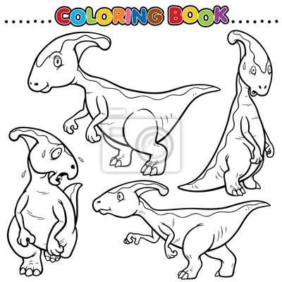 Libro Para Colorear De Dibujos Animados Dinosaurios Pinturas Para La Pared Cuadros Monstruo Enorme Dino Myloview Es Siguiendo con nuestra exitosa entrega de cómo dibujar animales, hoy os traemos los pasos para que podáis dibujar un… ¡dinosaurio! libro para colorear de dibujos animados dinosaurios cuadros myloview