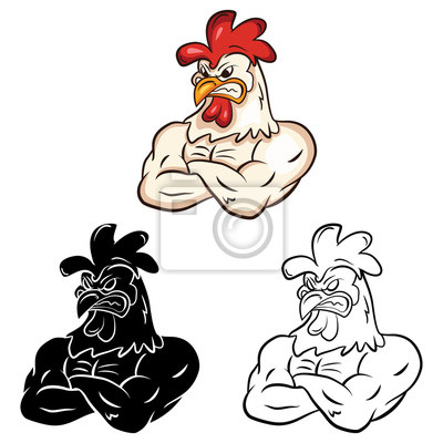 Libro Para Colorear Dibujos Animados Chicken Pinturas Para La Pared