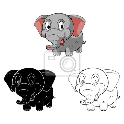 Libro para colorear dibujos animados elefante bebé pinturas para la ...