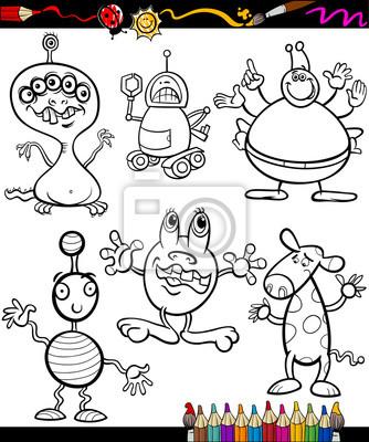 Libro para colorear juego de fantasía de dibujos animados pinturas ...