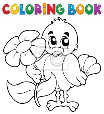 Libro para colorear pollo con flor pinturas para la pared • cuadros ...