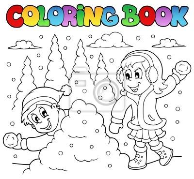 Libro para colorear tema de invierno 2 pinturas para la pared ...
