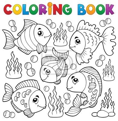 Libro para colorear tema de varios peces 1 pinturas para la pared ...