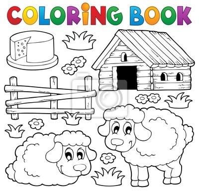 Libro para colorear tema ovejas 1 pinturas para la pared • cuadros ...