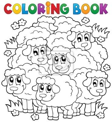 Libro para colorear tema ovejas 2 pinturas para la pared • cuadros ...