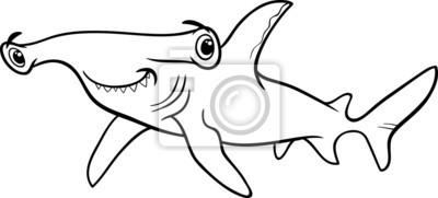Libro Para Colorear Tiburón Martillo Pinturas Para La Pared