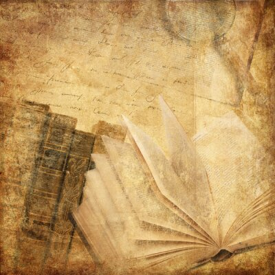 Cuadro libros antiguos