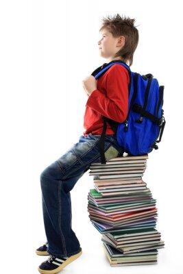 libros y chico