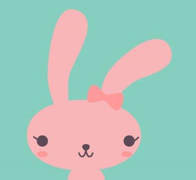 Cuadro Lindo conejo - Vector EPS10 archivo