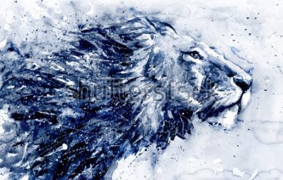 Cuadro Lion 3 black&white