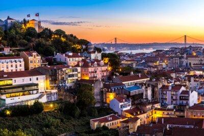 Cuadro Lisboa en la noche