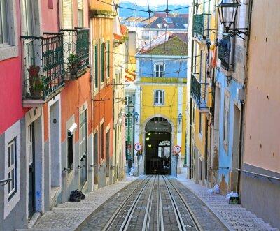 Cuadro Lisboa funicular Bica