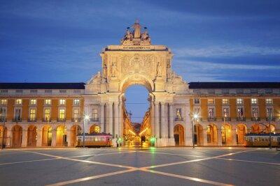 Cuadro Lisboa. Imagen de Arco de Triunfo en Lisboa, Portugal.