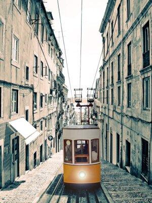 Cuadro Lisboa - Velho elevador amarelo