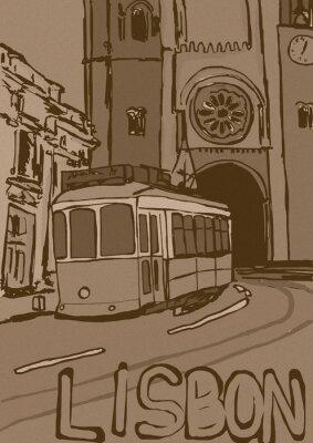 Cuadro Lisbon vintage