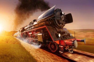 Cuadro locomotora de vapor