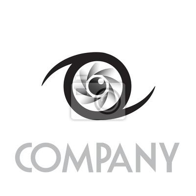 Logo Diafragma Y Los Ojos Vector Pinturas Para La Pared Cuadros