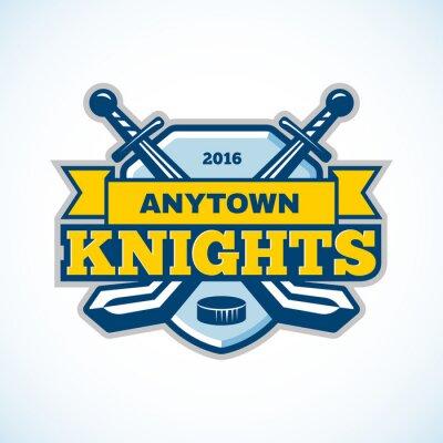 Cuadro Logotipo del equipo de los caballeros del hockey sobre hielo.