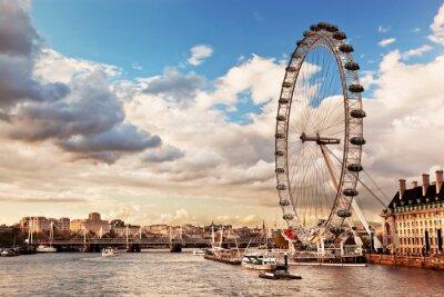 Cuadro Londres, Inglaterra, el horizonte del Reino Unido.