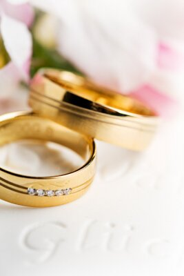 Cuadro Los anillos de boda, anillos de boda