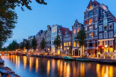 Cuadro Los canales de Amsterdam.