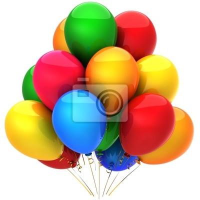 Los globos de helio multicolores (alta resolución)