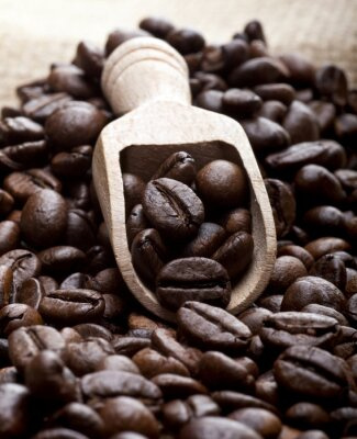 Cuadro Los granos de café