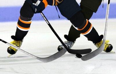 Cuadro Los jugadores de hockey sobre hielo en la pista
