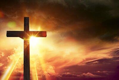 Cuadro Luces de la bendición del crucifijo