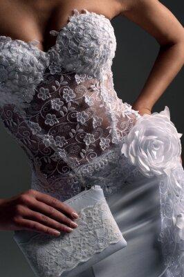 Cuadro luxe novia en forma ajustada vestido, catálogo de fotos