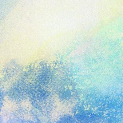 Cuadro Luz azul abstracta acuarela pintada salpica de fondo