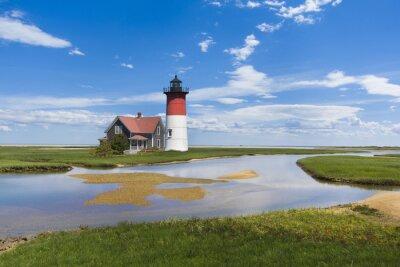 Cuadro Luz de la casa en Cape Cod, Massachusetts. EE.UU.