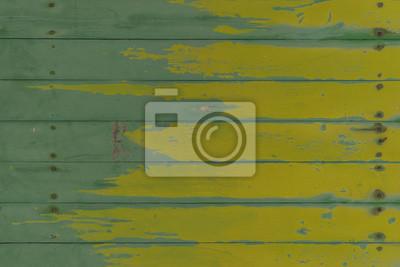madera de cosecha de fondo verde y amarillo