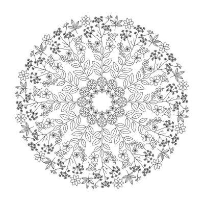 Cuadro Mandala de hierbas
