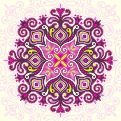 Cuadro Mandala de la flor. Elemento abstracto para el diseño