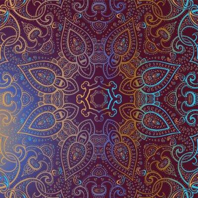 Cuadro Mandala. Patrón decorativo de la India.