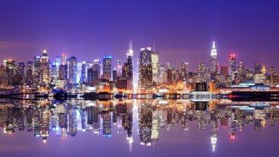 Cuadro Manhattan Skyline con reflexiones