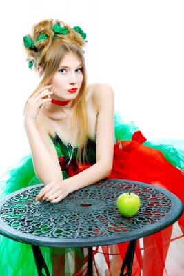 manzana sobre una mesa
