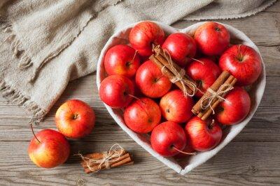 Cuadro Manzanas rojas con canela