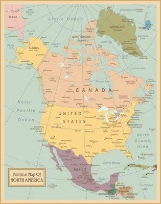 Cuadro Map.Layers América del Norte altamente detallados utilizados