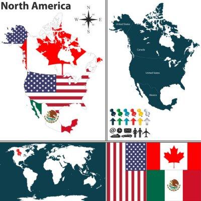 Cuadro Mapa de América del Norte