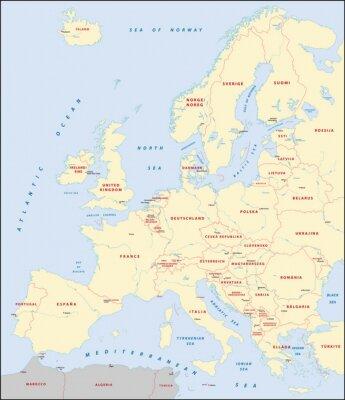 Cuadro mapa de Europa