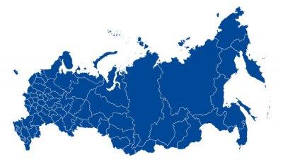 Cuadro Mapa de la Federación Rusa